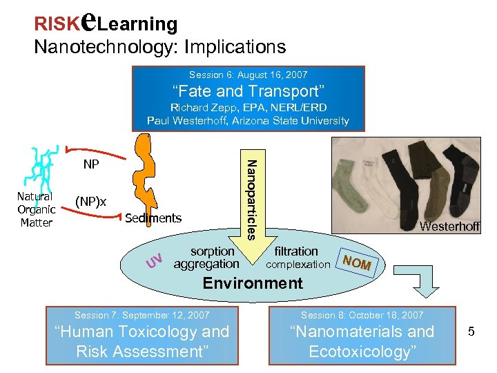 """e RISK Learning Nanotechnology: Implications Session 6: August 16, 2007 """"Fate and Transport"""" Richard"""