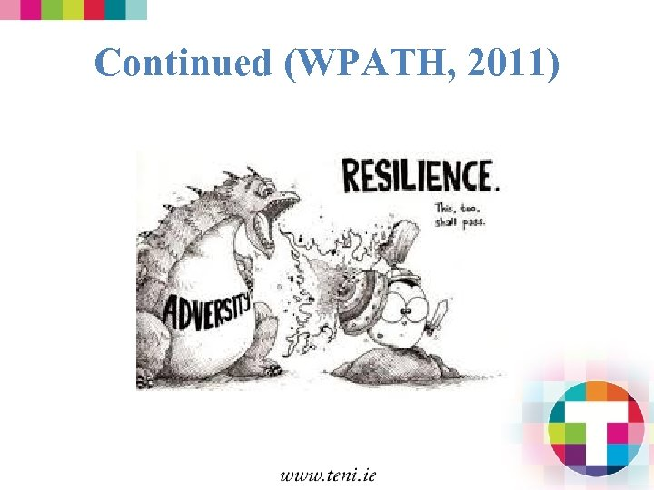 Continued (WPATH, 2011)