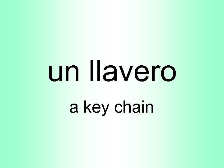 un llavero a key chain