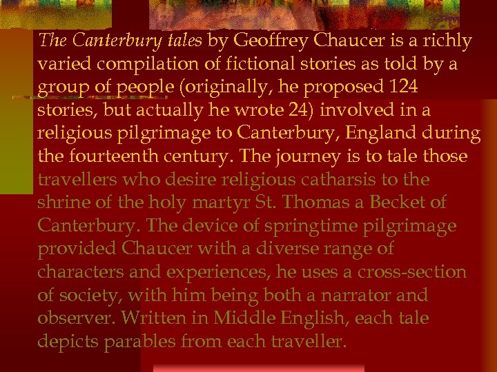 an analysis of the religion in society in beowulf and the canterbury tales by geoffrey chaucer In his prologue to the canterbury tales, geoffrey chaucer introduces us to his world in all it's variety although society was still split into a feudal hierarchy, it was also starting to loosen during chaucer's time.