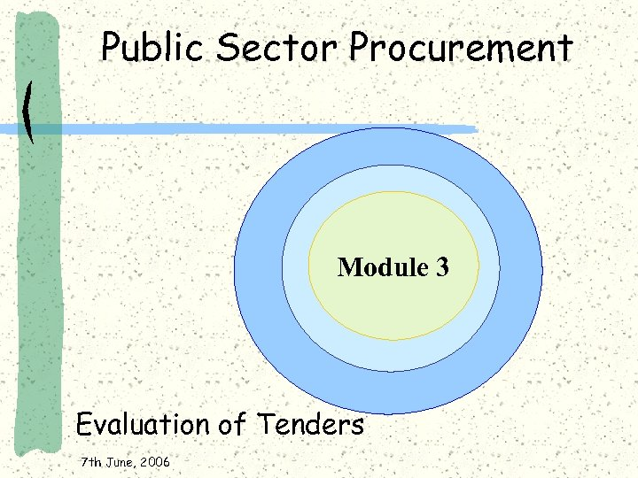 Public Sector Procurement Module 3 Evaluation of Tenders 7 th June, 2006