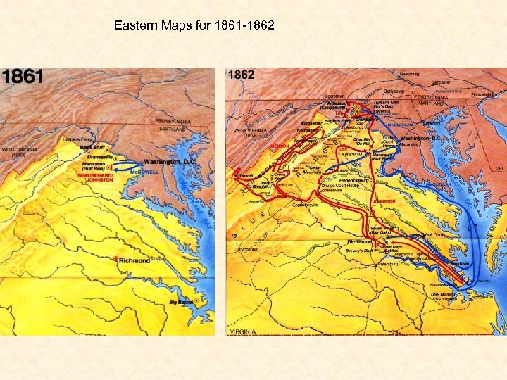 Eastern Maps for 1861 -1862