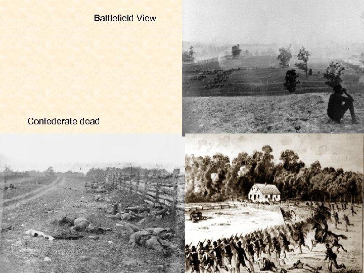 Battlefield View Confederate dead