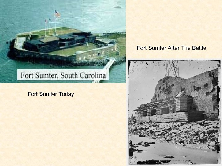 Fort Sumter After The Battle Fort Sumter Today