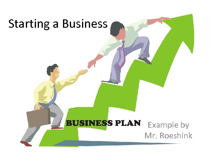 Starting a Business Example by Mr. Roeshink