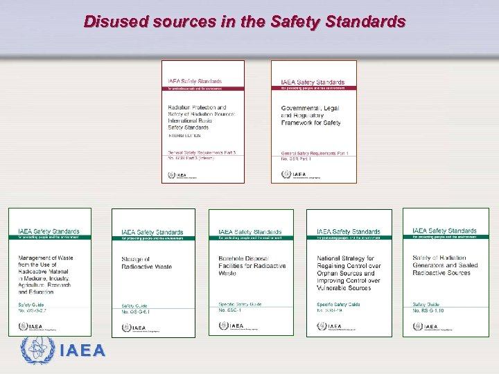 Disused sources in the Safety Standards IAEA