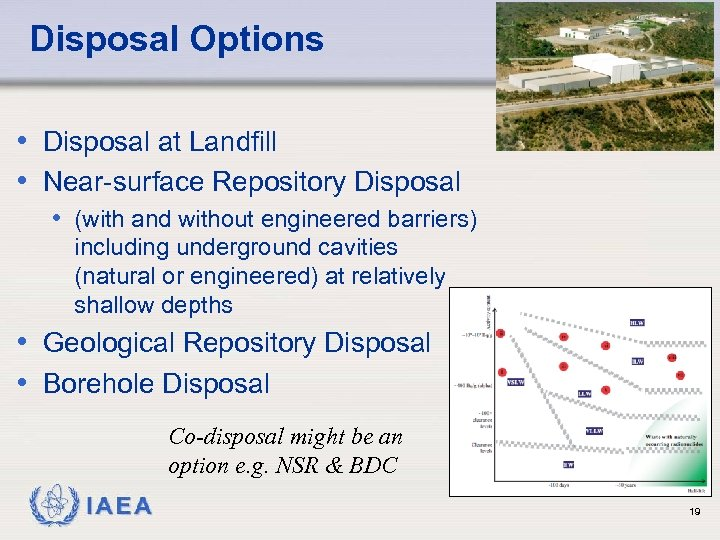 Disposal Options • Disposal at Landfill • Near-surface Repository Disposal • (with and without
