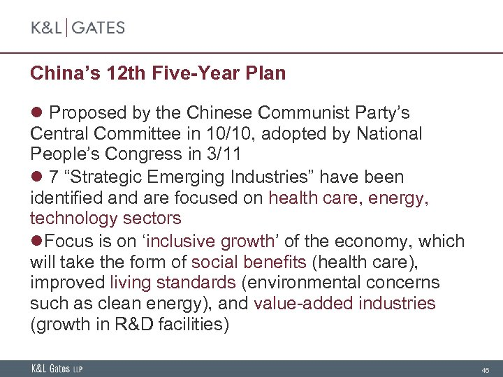 China's 12 th Five-Year Plan l Proposed by the Chinese Communist Party's Central Committee