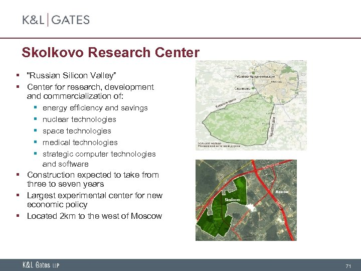 """Skolkovo Research Center § """"Russian Silicon Valley"""" § Center for research, development and commercialization"""