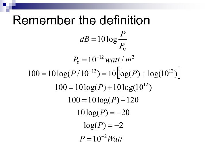 Remember the definition
