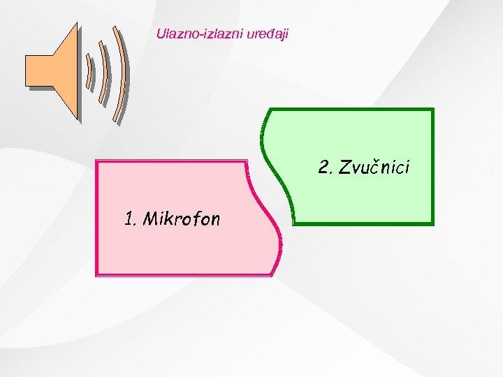 Ulazno-izlazni uređaji 2. Zvučnici 1. Mikrofon