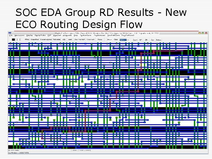 SOC EDA Group RD Results - New ECO Routing Design Flow