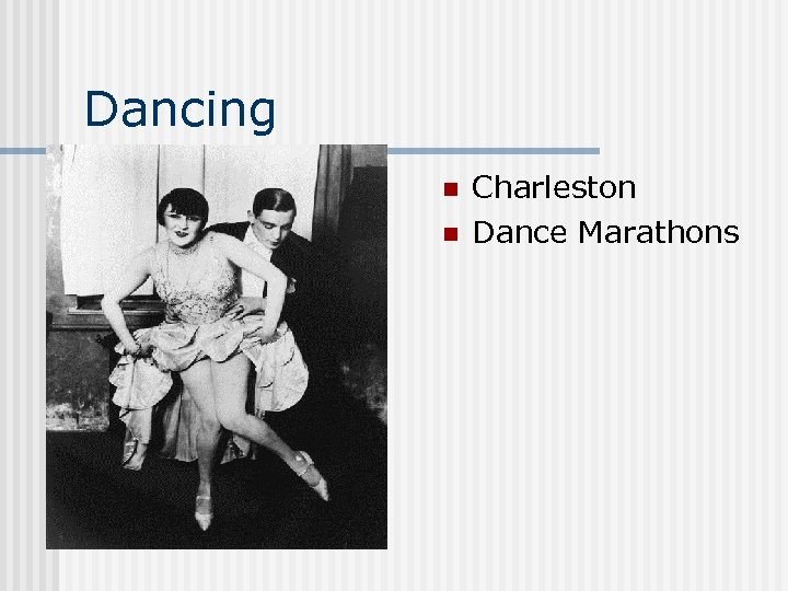 Dancing n n Charleston Dance Marathons