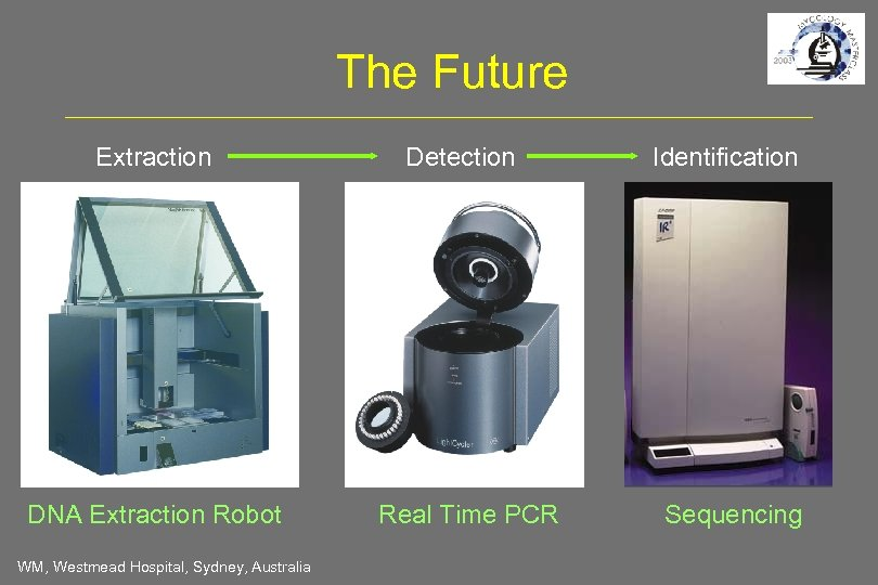 The Future Extraction DNA Extraction Robot WM, Westmead Hospital, Sydney, Australia Detection Real Time