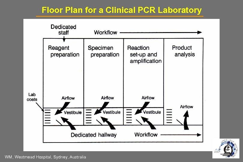 Floor Plan for a Clinical PCR Laboratory WM, Westmead Hospital, Sydney, Australia