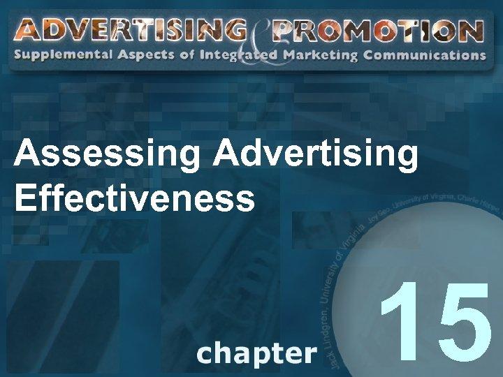 Assessing Advertising Effectiveness 15