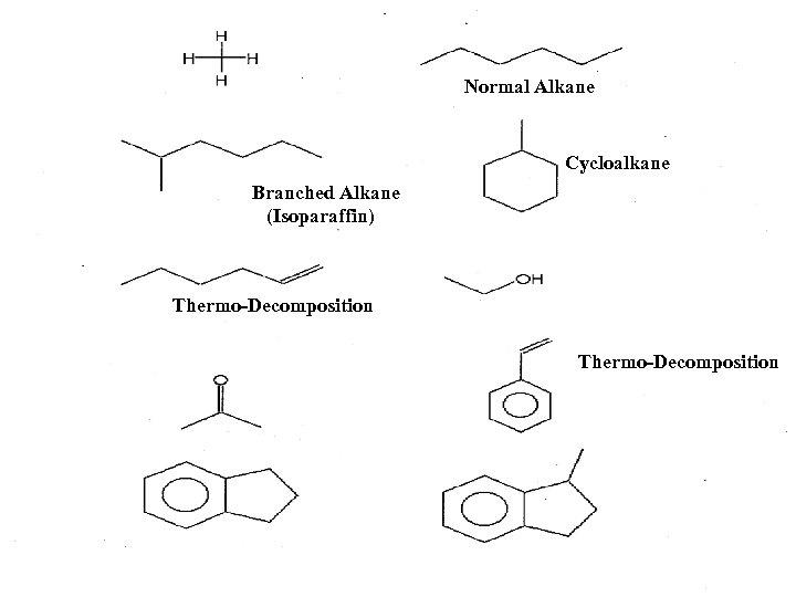 Normal Alkane Cycloalkane Branched Alkane (Isoparaffin) Thermo-Decomposition