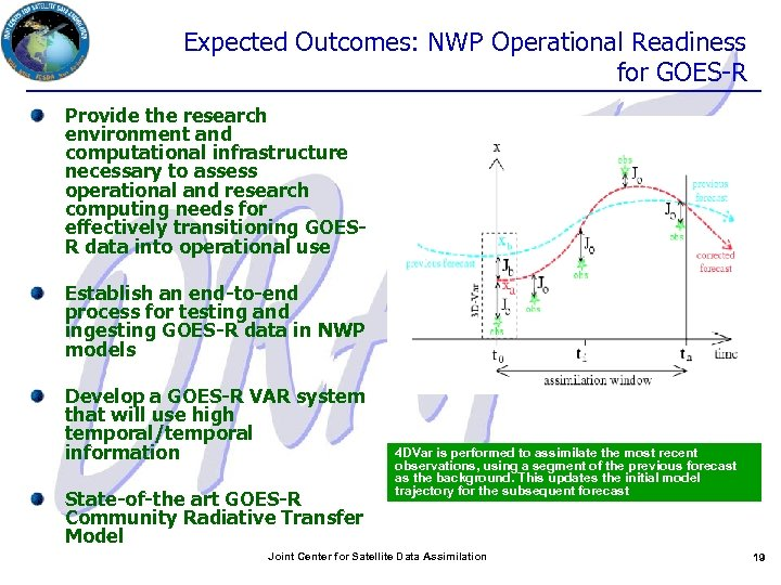 Expected Outcomes: NWP Operational Readiness for GOES-R Provide the research environment and computational infrastructure