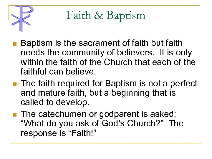 "baptism is the ground floor sacrament religion essay ""give a man a fish, and you feed him for a day teach a man to fish, and you feed him for a lifetime,"" providing, of course, one feeds the man first so he doesn't starve to death and then teaches him to fish if he wishes to learnit is a laudable proverb."