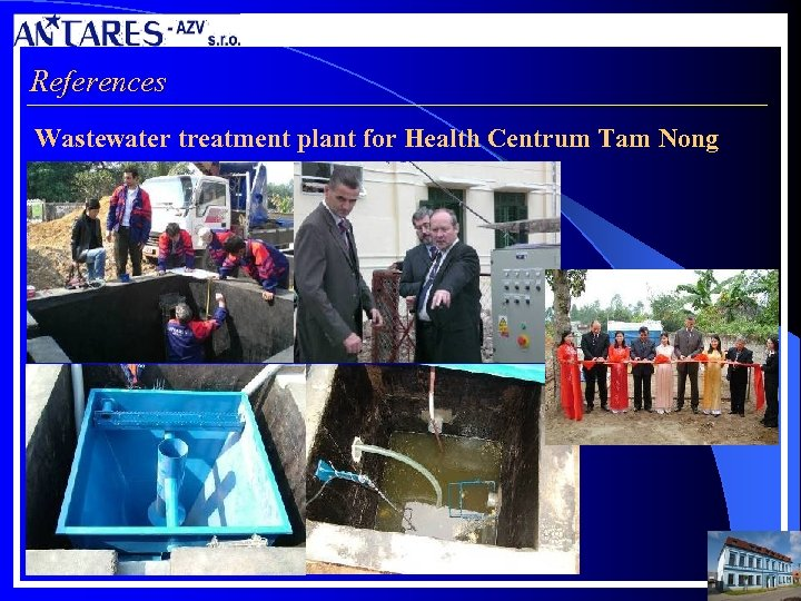 References Wastewater treatment plant for Health Centrum Tam Nong