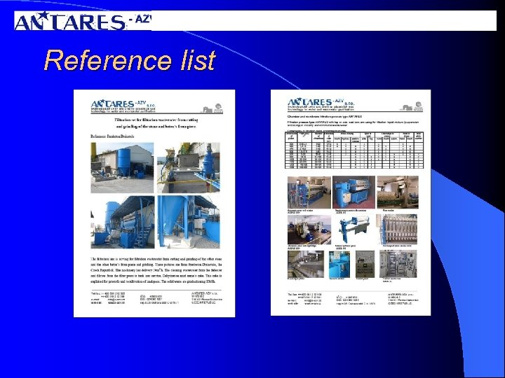 Reference list
