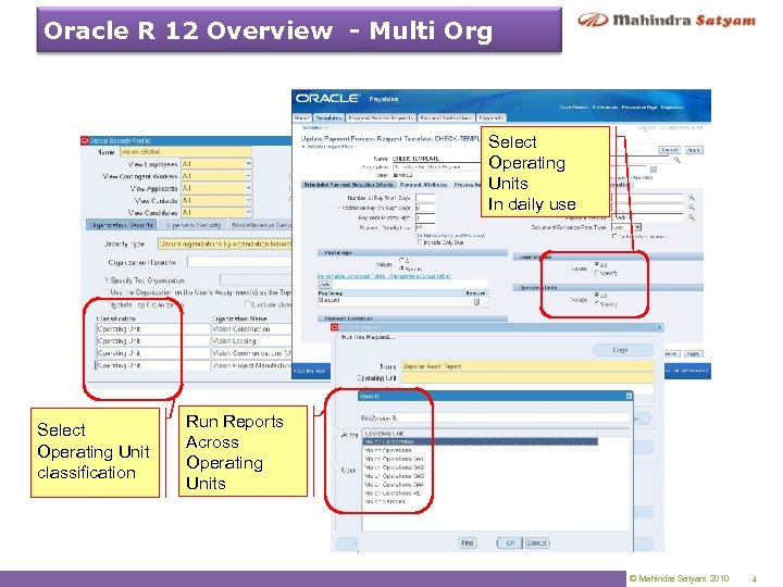 Oracle R 12 Overview - Multi Org Select Operating Units In daily use Select