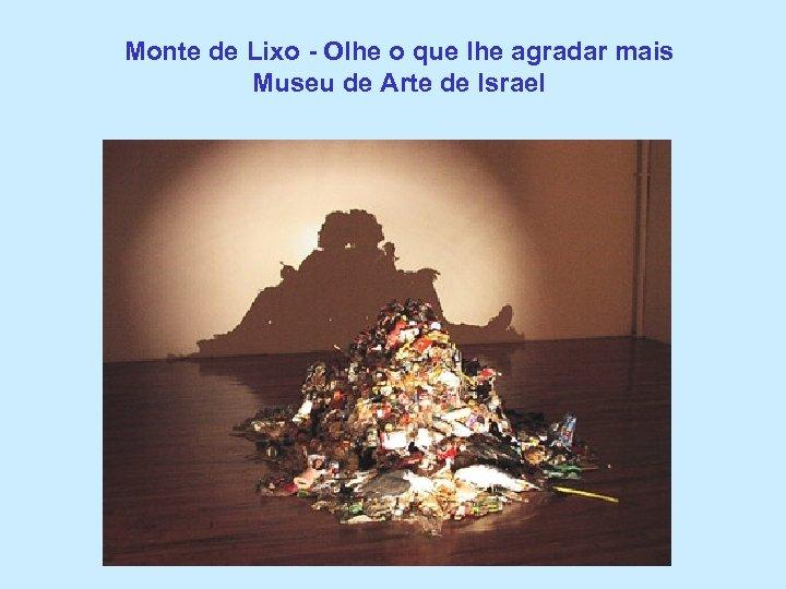 Monte de Lixo - Olhe o que lhe agradar mais Museu de Arte de