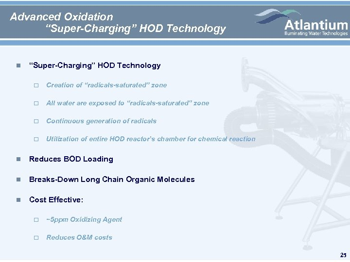 """Advanced Oxidation """"Super-Charging"""" HOD Technology Creation of """"radicals-saturated"""" zone All water are exposed to"""