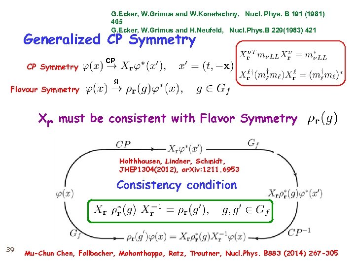 G. Ecker, W. Grimus and W. Konetschny, Nucl. Phys. B 191 (1981) 465 G.