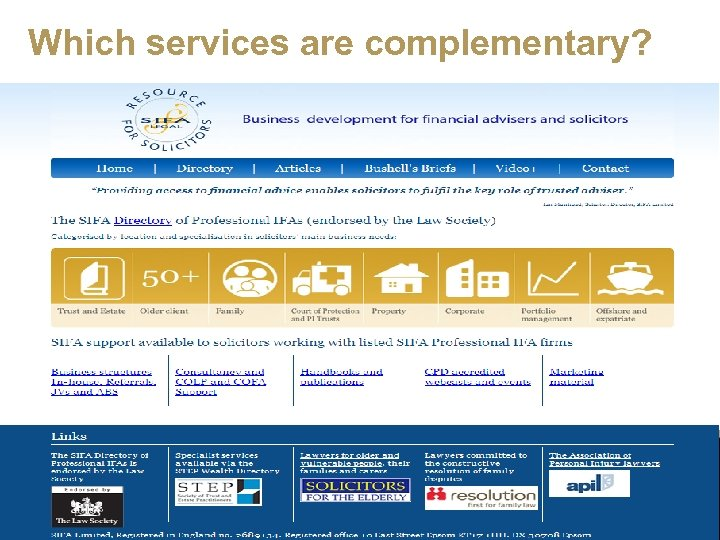 Which services are complementary?