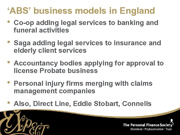 'ABS' business models in England • Co-op adding legal services to banking and funeral