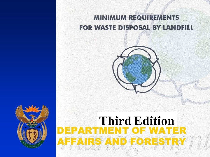 Third Edition DEPARTMENT OF WATER AFFAIRS AND FORESTRY