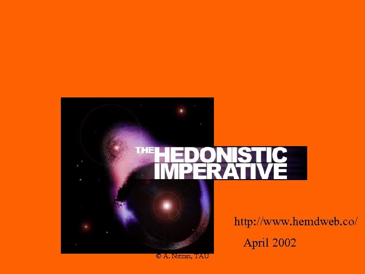 http: //www. hemdweb. co/ April 2002 © A. Nitzan, TAU