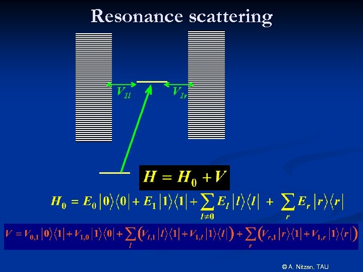 Resonance scattering V 1 l V 1 r © A. Nitzan, TAU