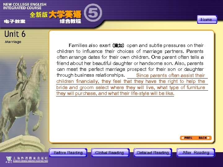 Families also exert (施加) open and subtle pressures on their children to influence their