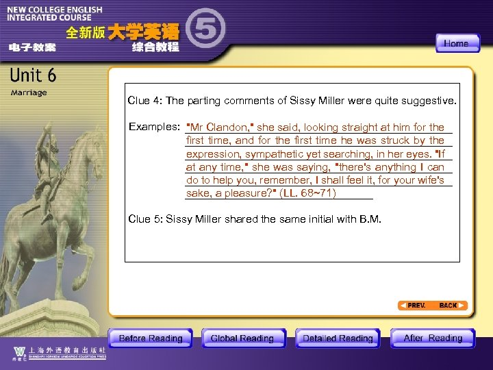 Clue 4: The parting comments of Sissy Miller were quite suggestive. Examples: ______________________