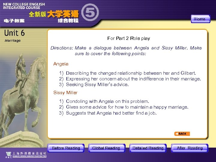 For Part 2 Role play Directions: Make a dialogue between Angela and Sissy Miller.