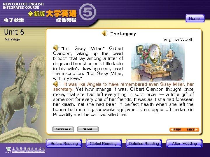 The Legacy Virginia Woolf