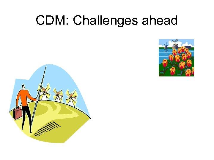 CDM: Challenges ahead