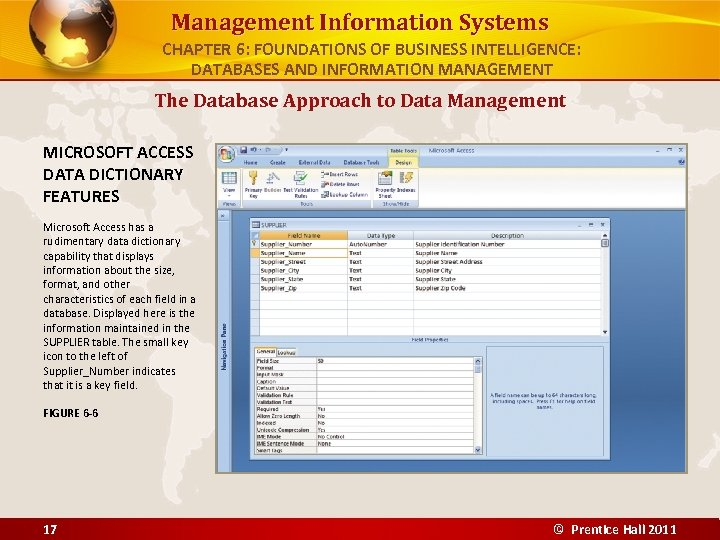 Management Information Systems CHAPTER 6: FOUNDATIONS OF BUSINESS INTELLIGENCE: DATABASES AND INFORMATION MANAGEMENT The