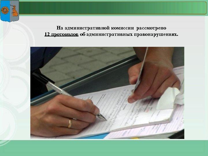 На административной комиссии рассмотрено 12 протоколов об административных правонарушениях.