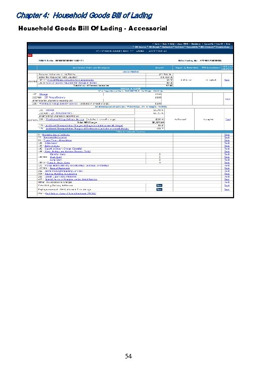 Chapter 4: Household Goods Bill of Lading Household Goods Bill Of Lading - Accessorial