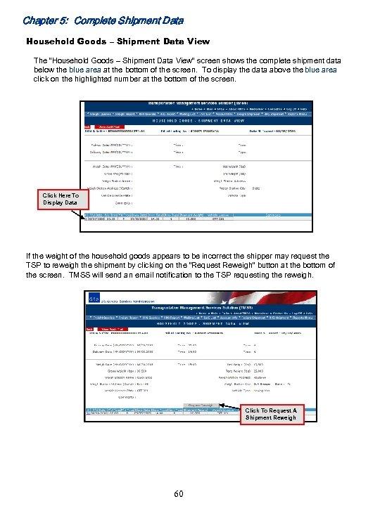 """Chapter 5: Complete Shipment Data Household Goods – Shipment Data View The """"Household Goods"""
