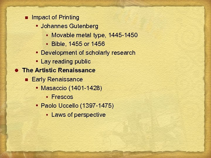 Impact of Printing Johannes Gutenberg § Movable metal type, 1445 -1450 § Bible, 1455
