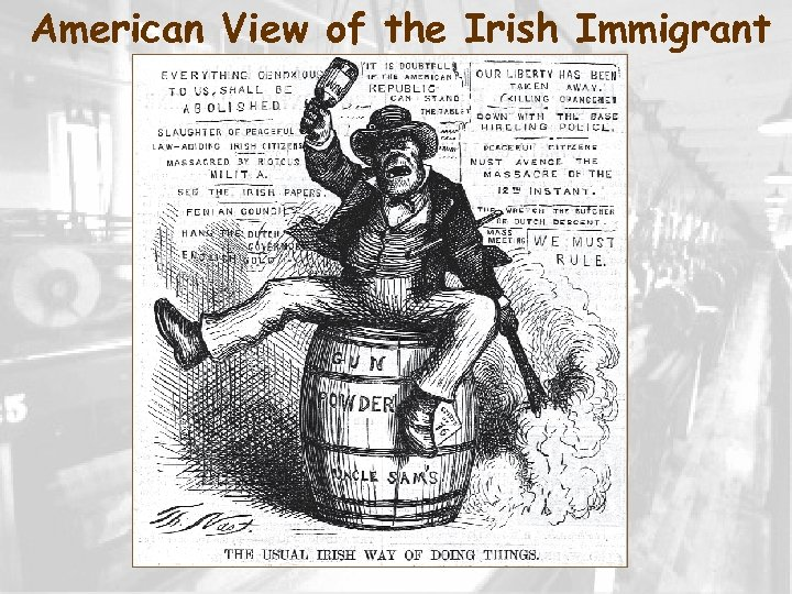 American View of the Irish Immigrant