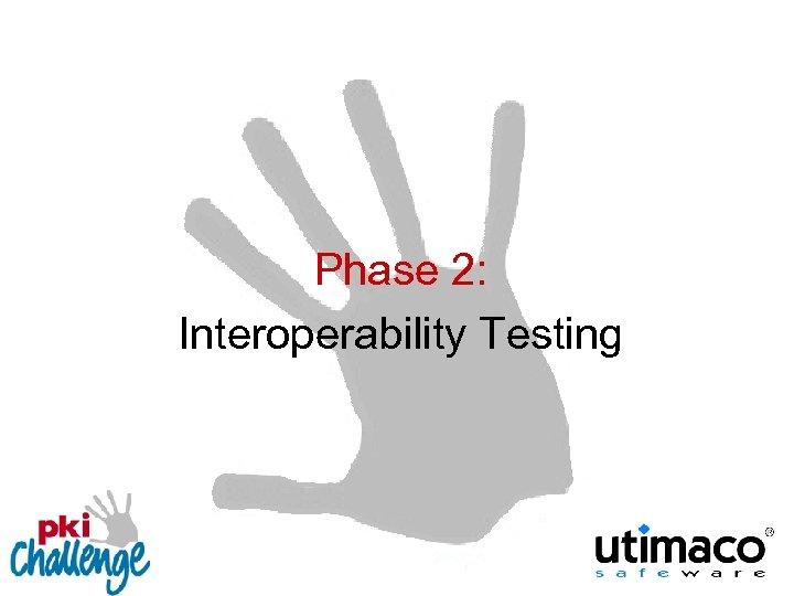 Phase 2: Interoperability Testing