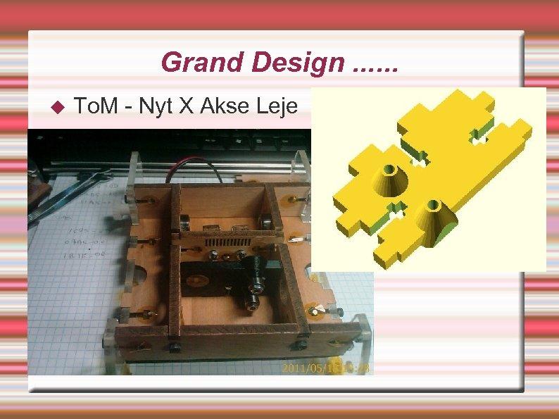 Grand Design. . . To. M - Nyt X Akse Leje