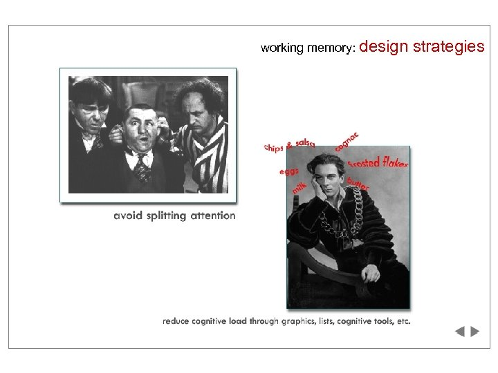 working memory: design strategies