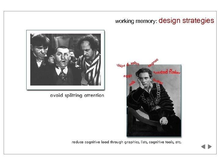 working memory: design strategies