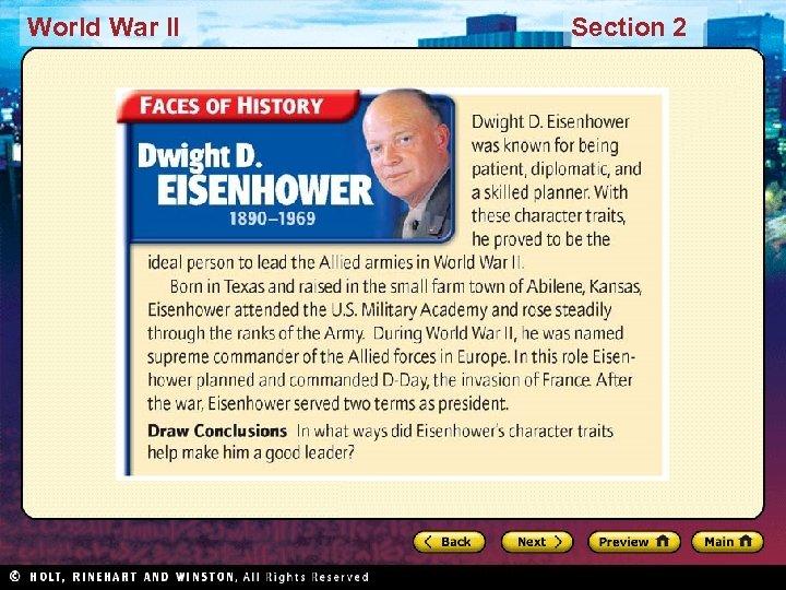 World War II Section 2